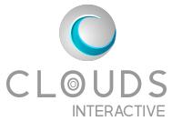 Logo of Clouds Interactive, a website design company in Omaha, Nebraska.